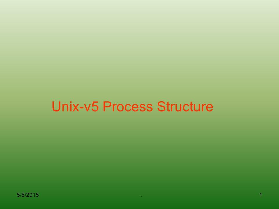 Unix-v5 Process Structure