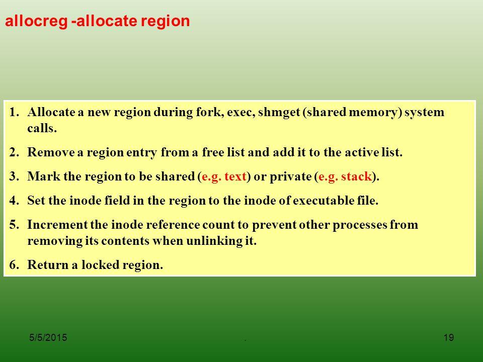 allocreg -allocate region