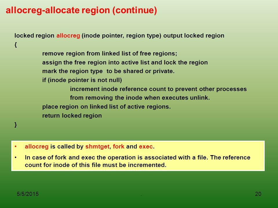 allocreg-allocate region (continue)