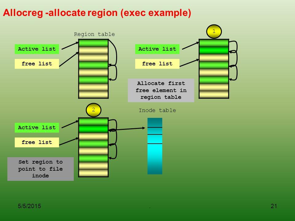 Allocreg -allocate region (exec example)