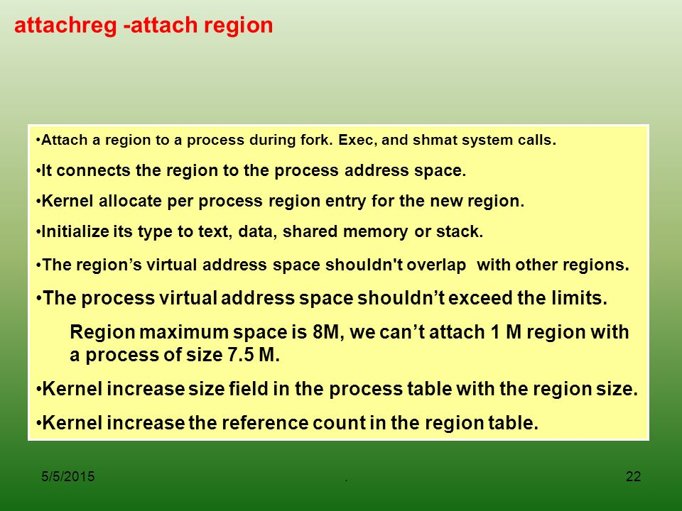 attachreg -attach region