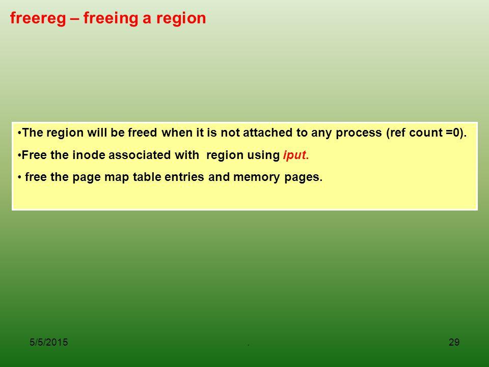 freereg – freeing a region
