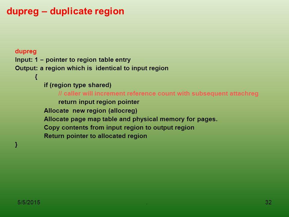 dupreg – duplicate region