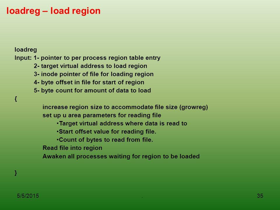 loadreg – load region loadreg
