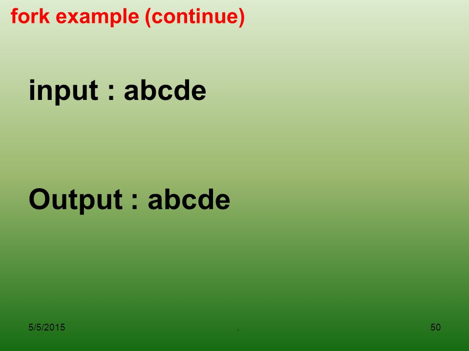 fork example (continue)