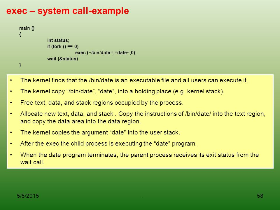 exec – system call-example