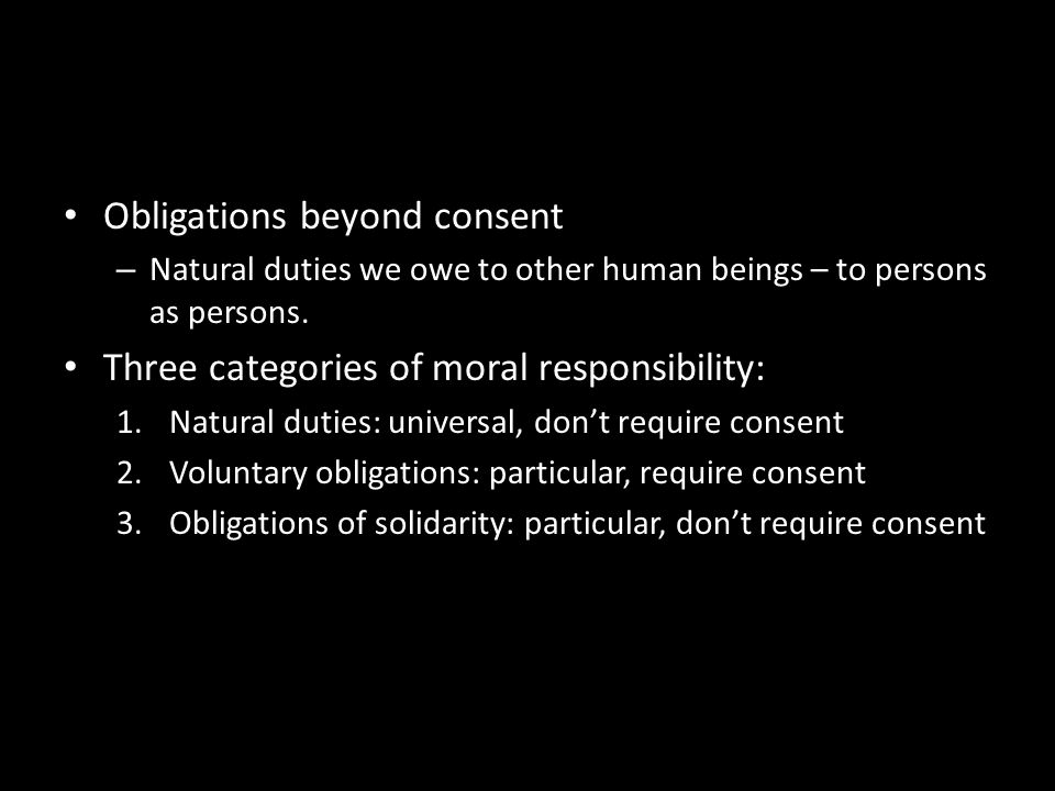 Obligations beyond consent