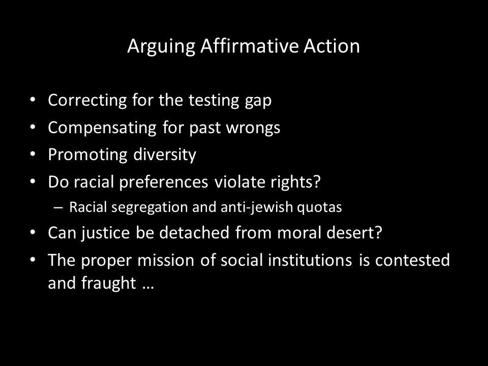 Arguing Affirmative Action