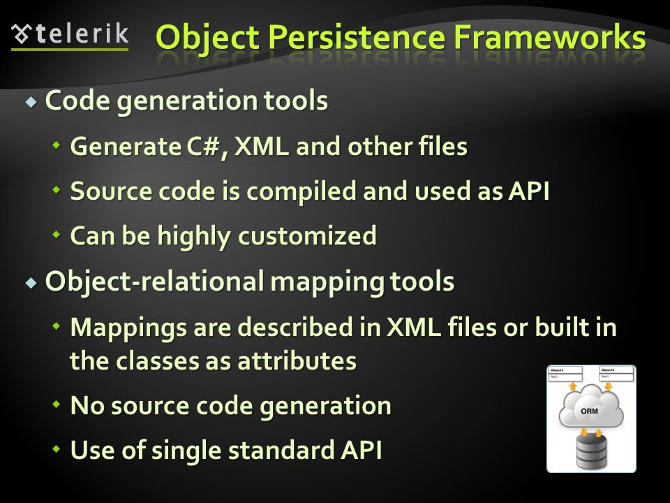 Object Persistence Frameworks