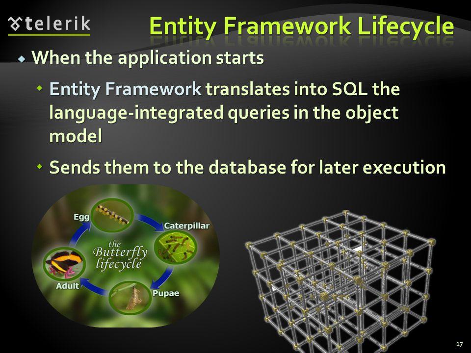 Entity Framework Lifecycle