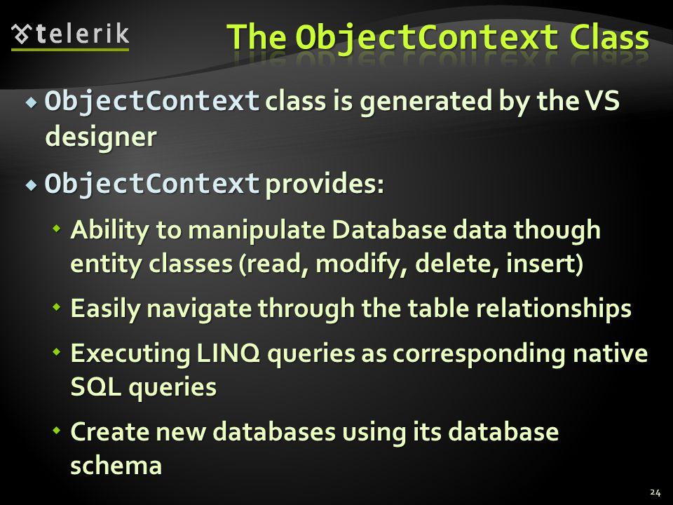 The ObjectContext Class