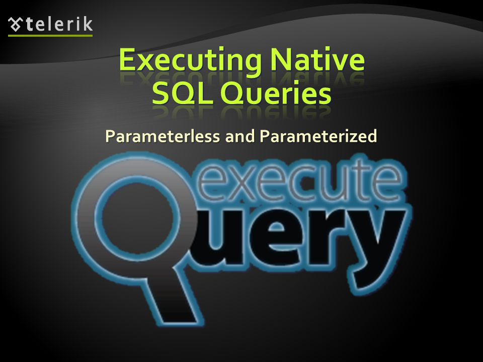 Executing Native SQL Queries