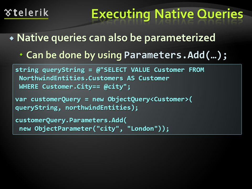Executing Native Queries
