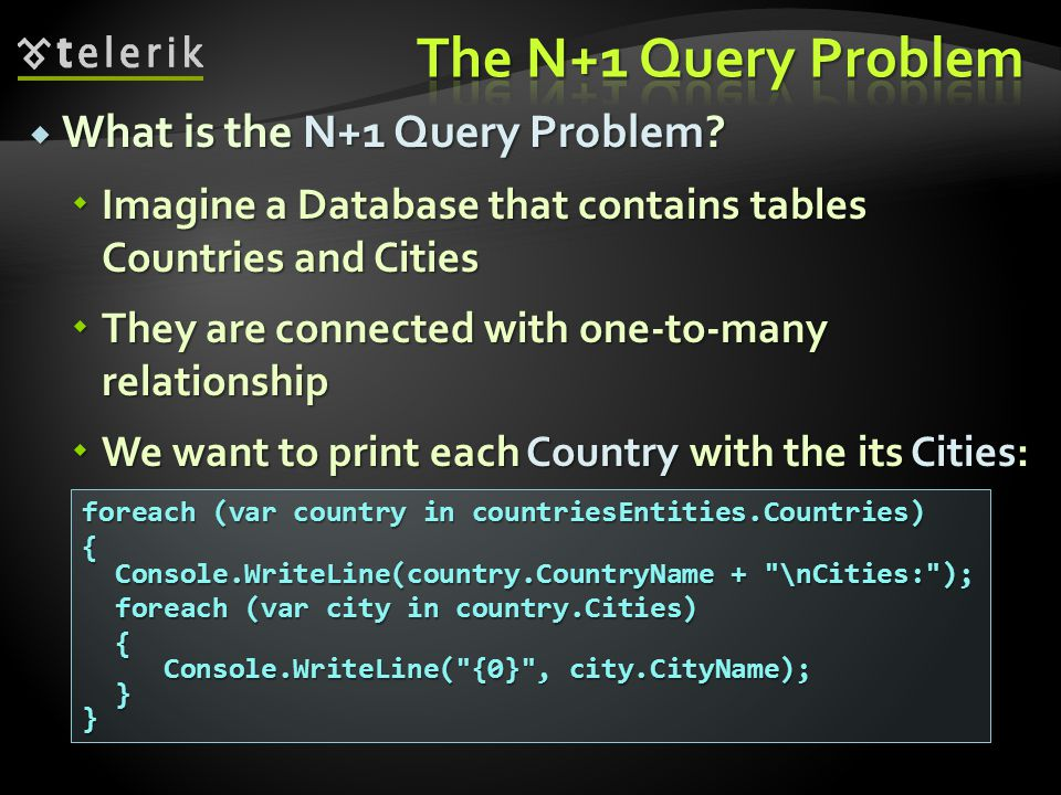 The N+1 Query Problem What is the N+1 Query Problem