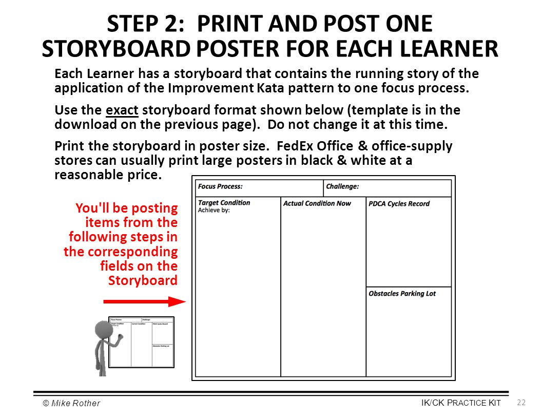 STEP 2: PRINT AND POST ONE STORYBOARD POSTER FOR EACH LEARNER