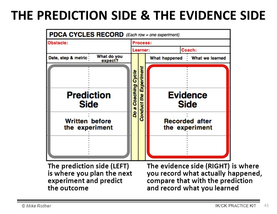 THE PREDICTION SIDE & THE EVIDENCE SIDE