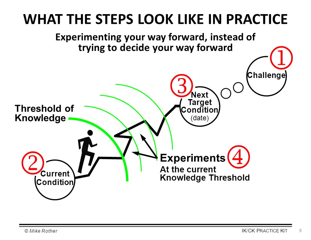 WHAT THE STEPS LOOK LIKE IN PRACTICE
