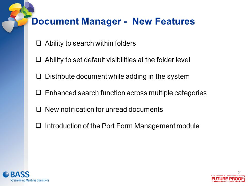 Document Manager - New Features