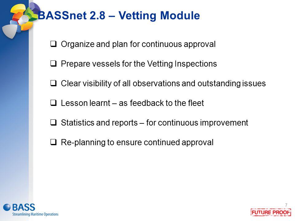 BASSnet 2.8 – Vetting Module