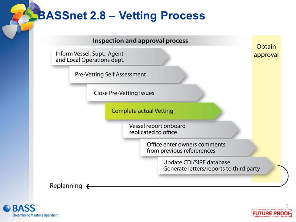 BASSnet 2.8 – Vetting Process