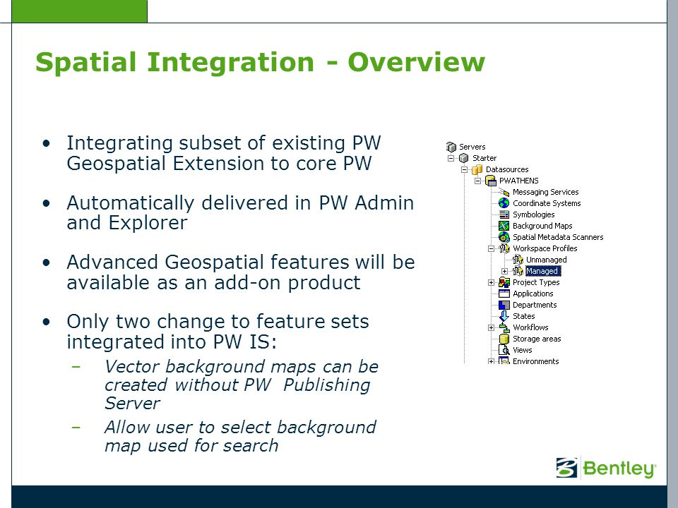 Spatial Integration - Overview