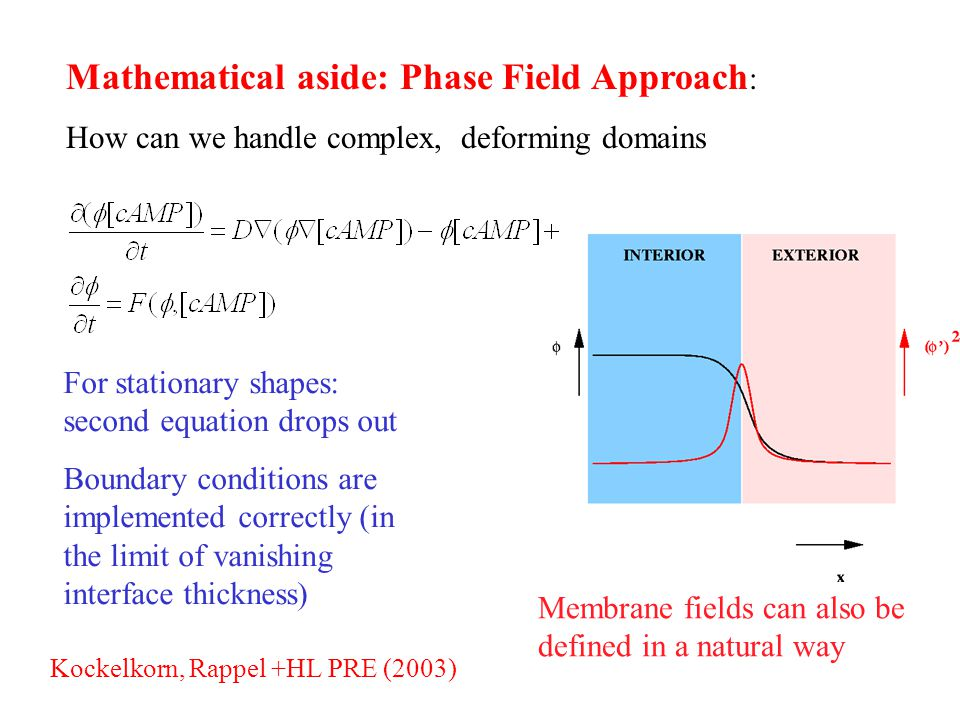 Mathematical aside: Phase Field Approach: