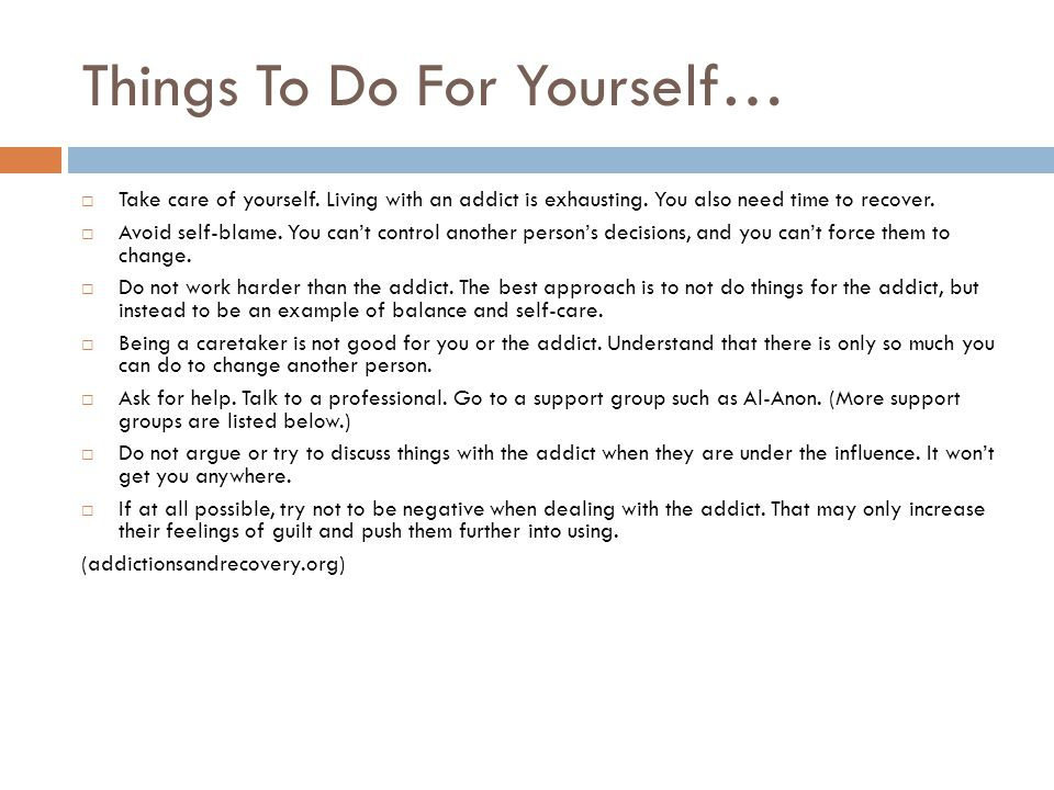 Things To Do For Yourself…