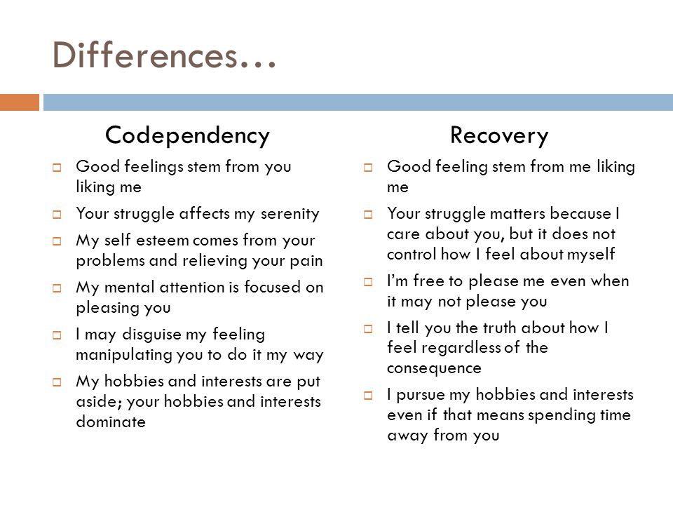 how to break away from codependency