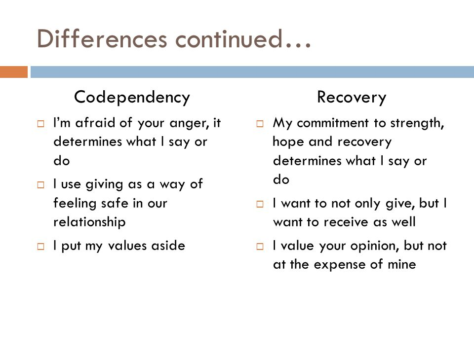 Differences continued…