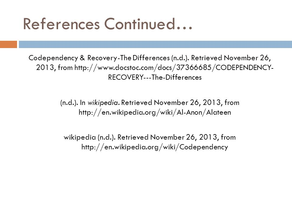 References Continued…