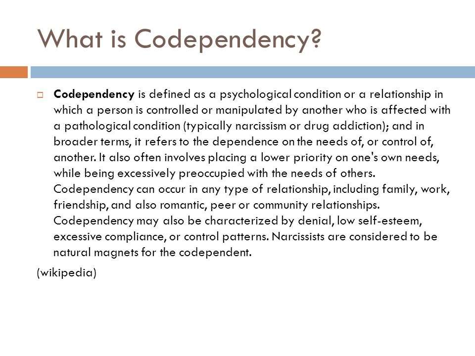 What is Codependency