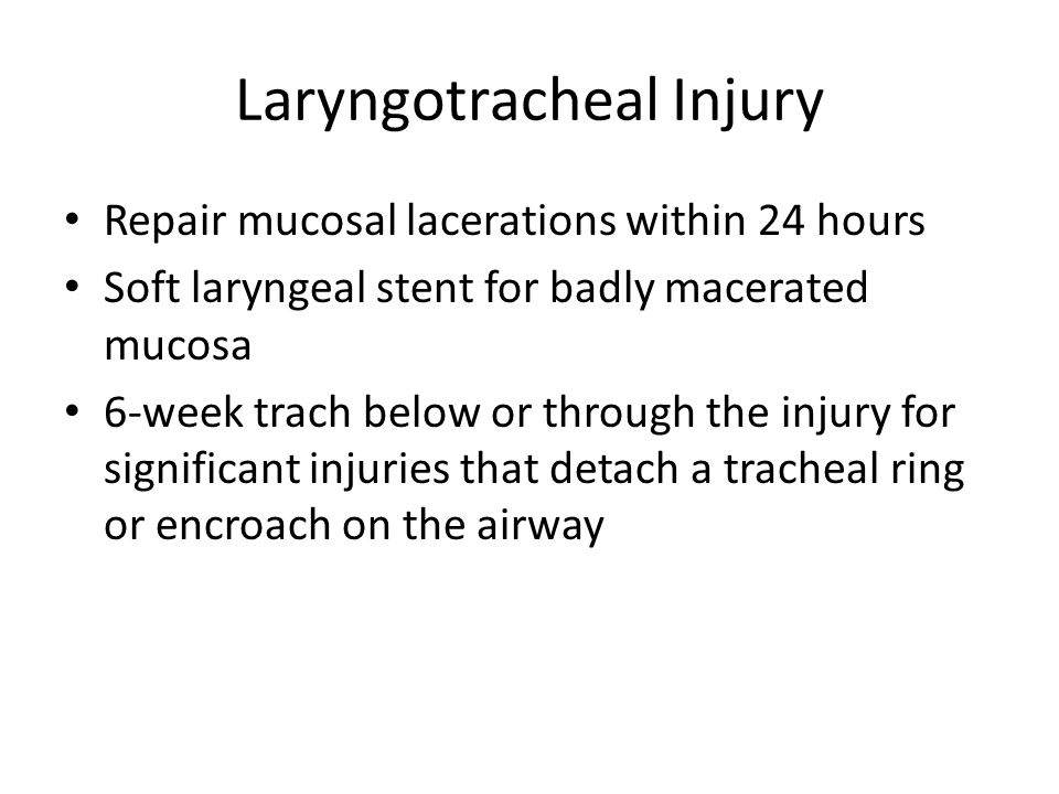 Laryngotracheal Injury