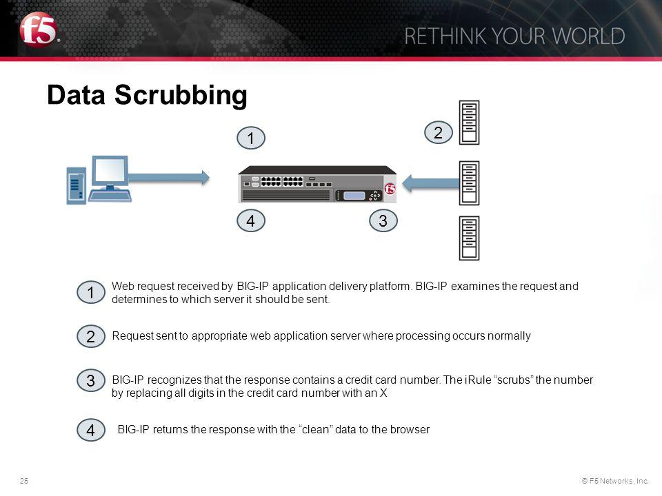 Data Scrubbing 2. 1. 4. 3.