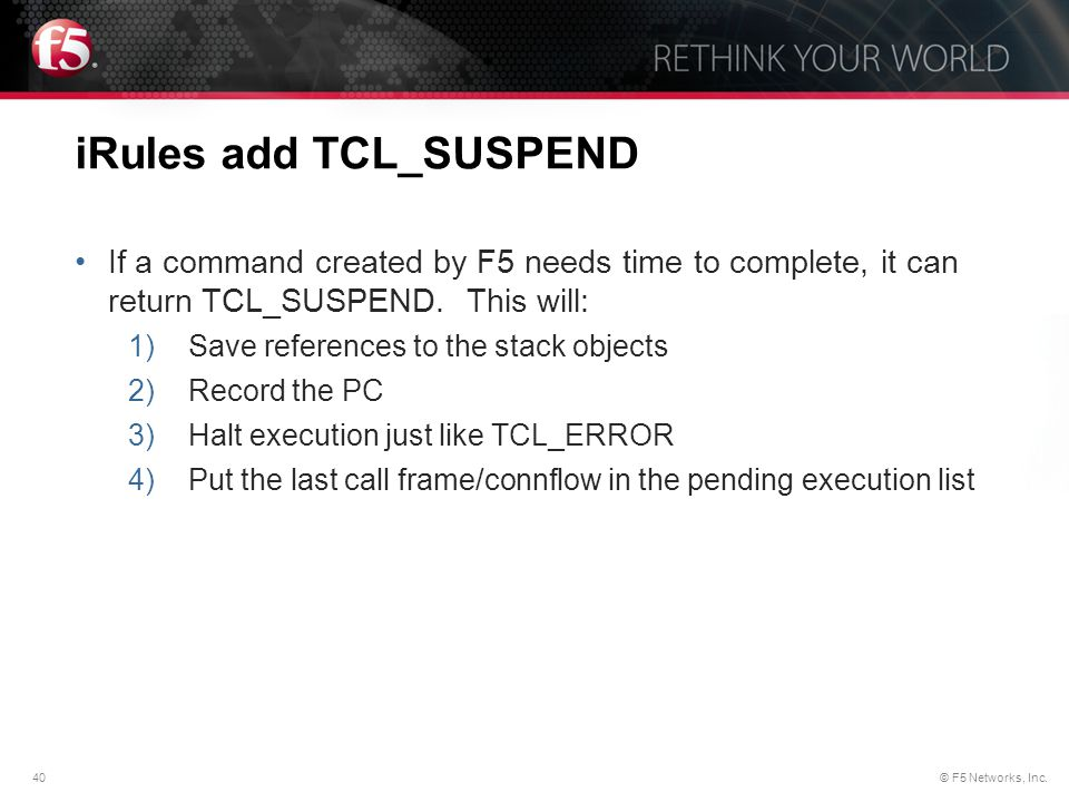iRules add TCL_SUSPEND