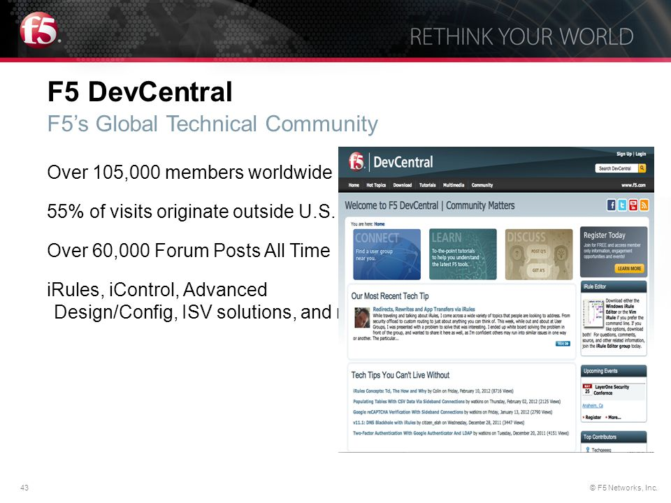 F5 DevCentral F5's Global Technical Community
