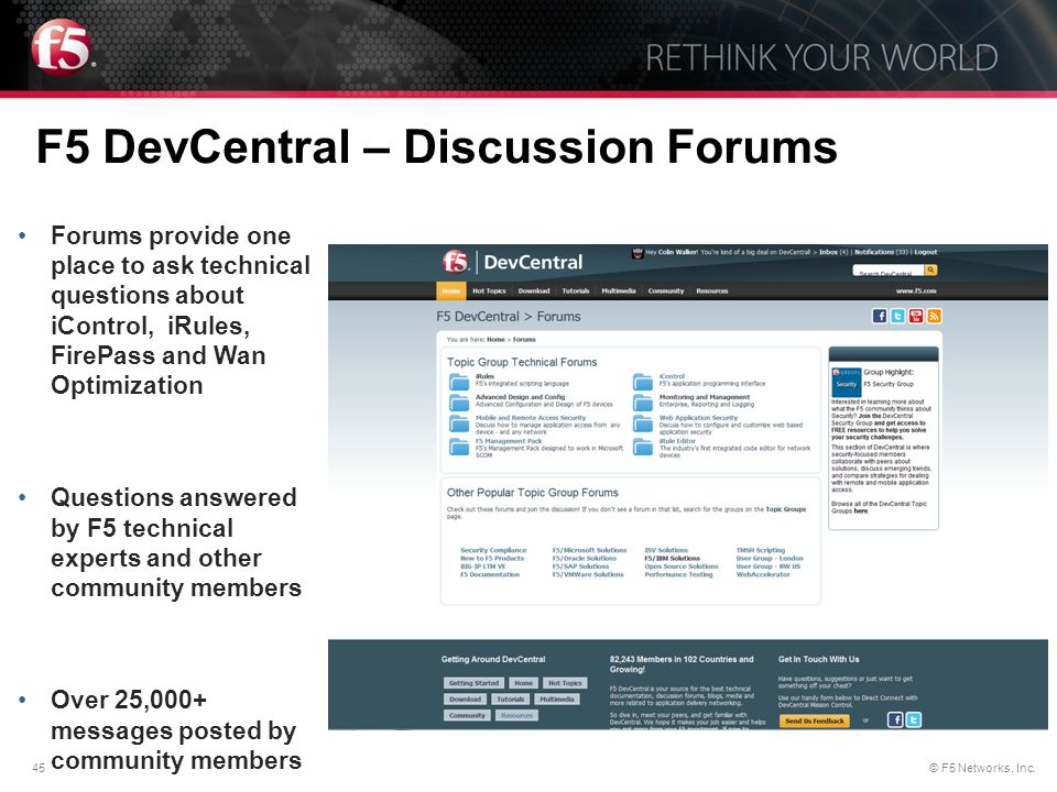 F5 DevCentral – Discussion Forums