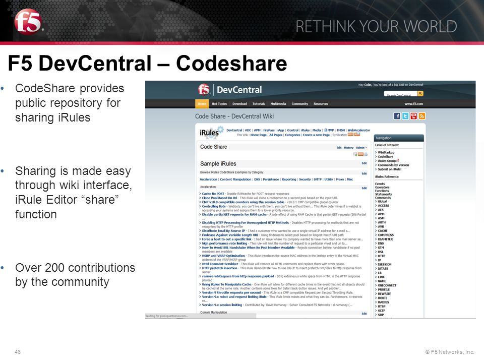 F5 DevCentral – Codeshare