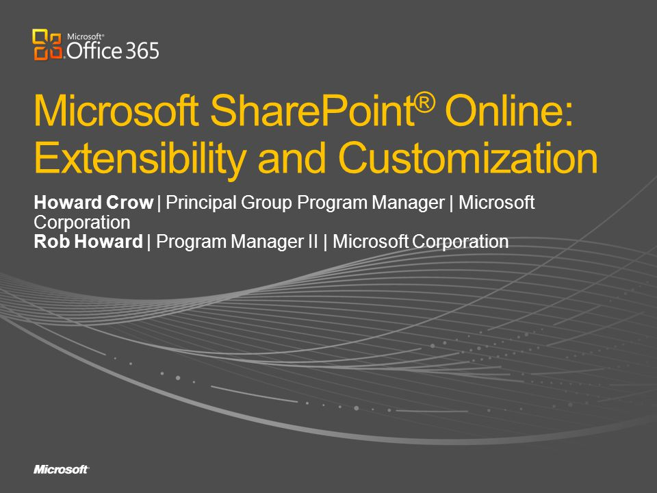 Microsoft SharePoint® Online: Extensibility and Customization