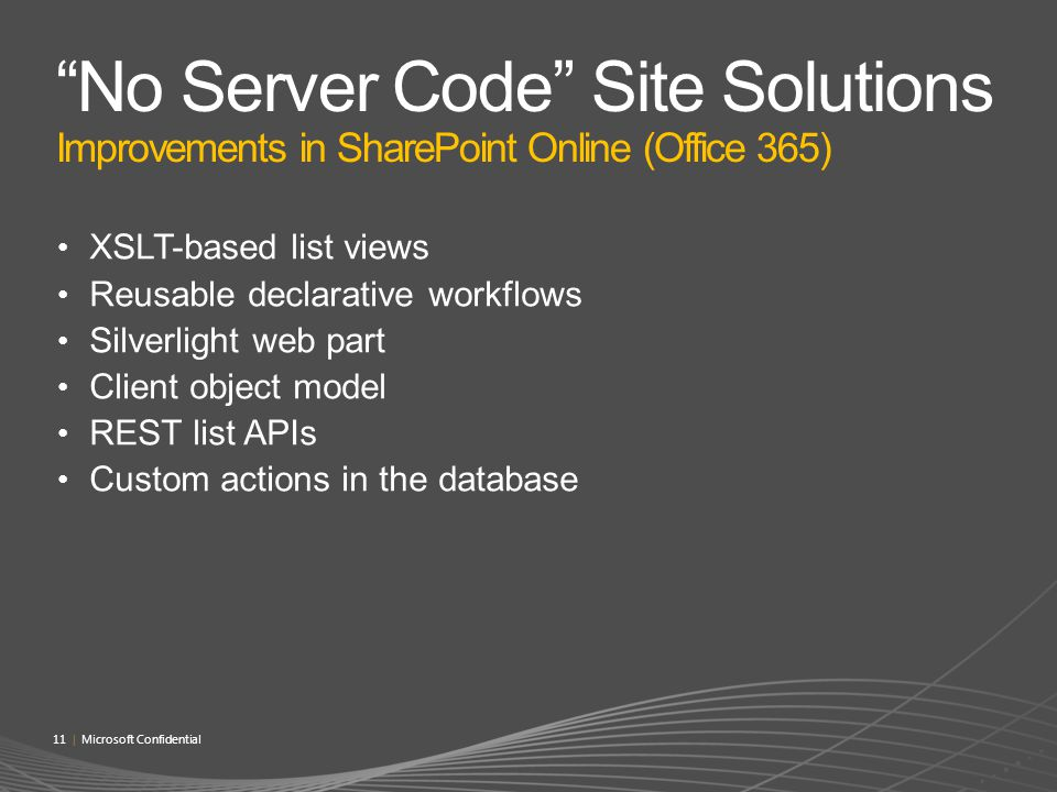 No Server Code Site Solutions Improvements in SharePoint Online (Office 365)