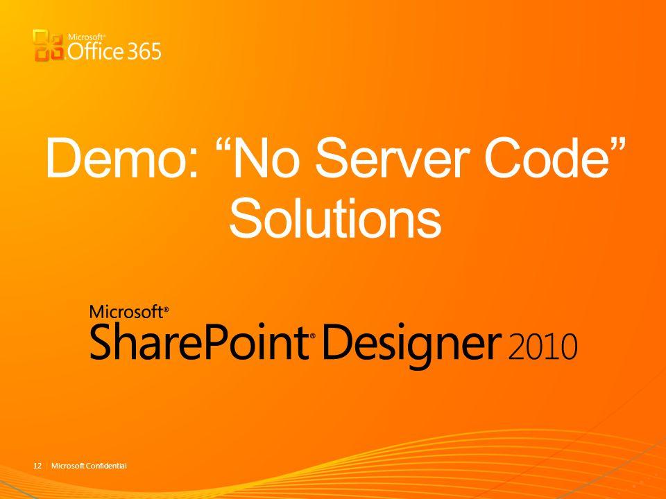 Demo: No Server Code Solutions