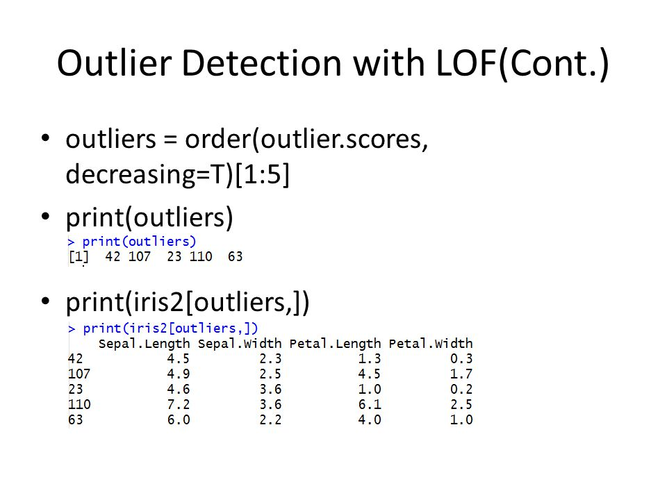 Outlier Detection with LOF(Cont.)