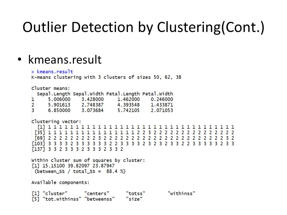 Outlier Detection by Clustering(Cont.)