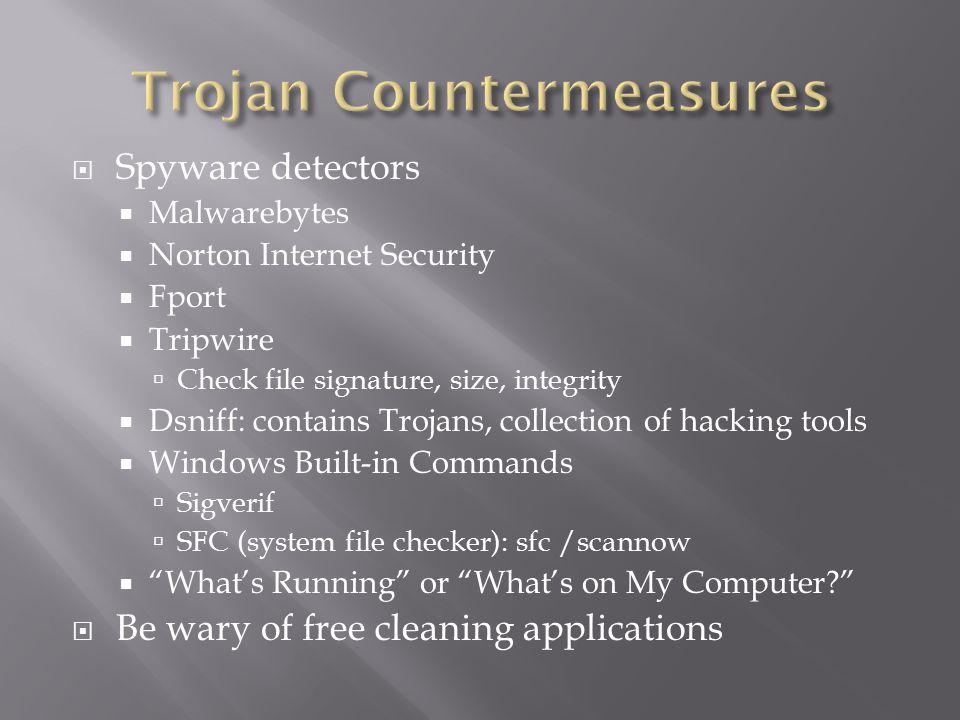 Trojan Countermeasures