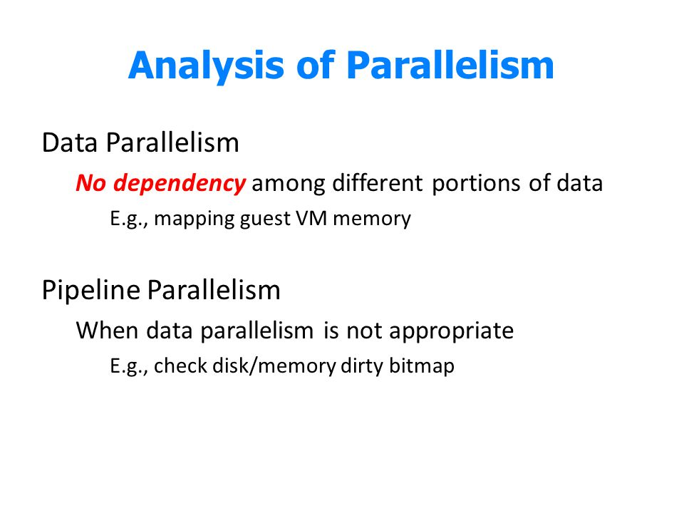 Analysis of Parallelism