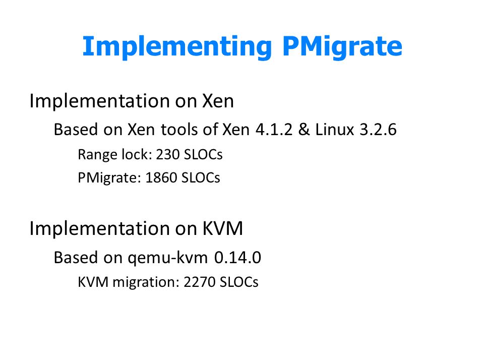 Implementing PMigrate