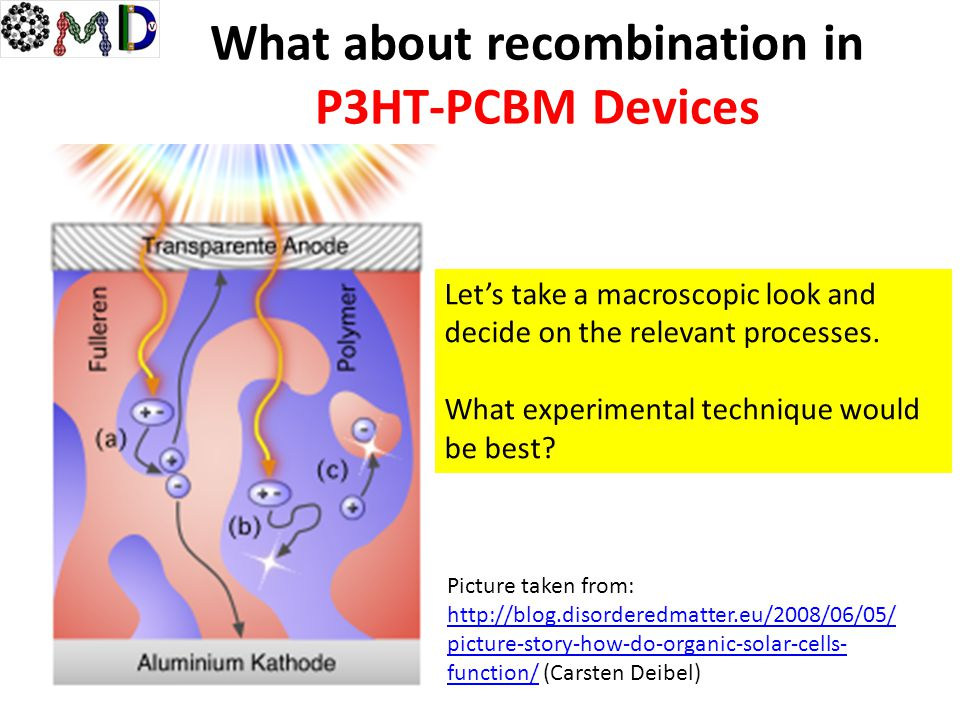 What about recombination in P3HT-PCBM Devices