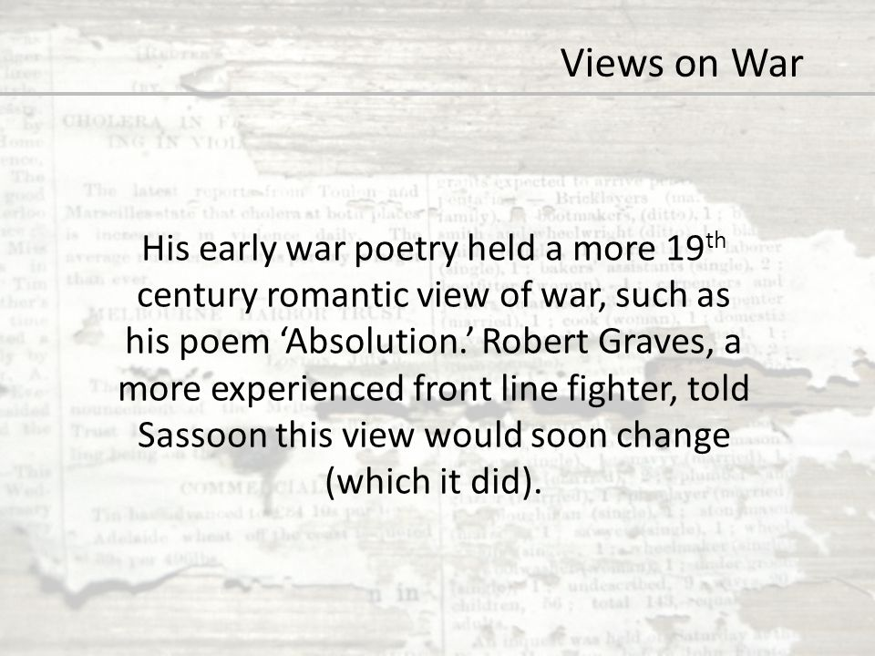 Views on War