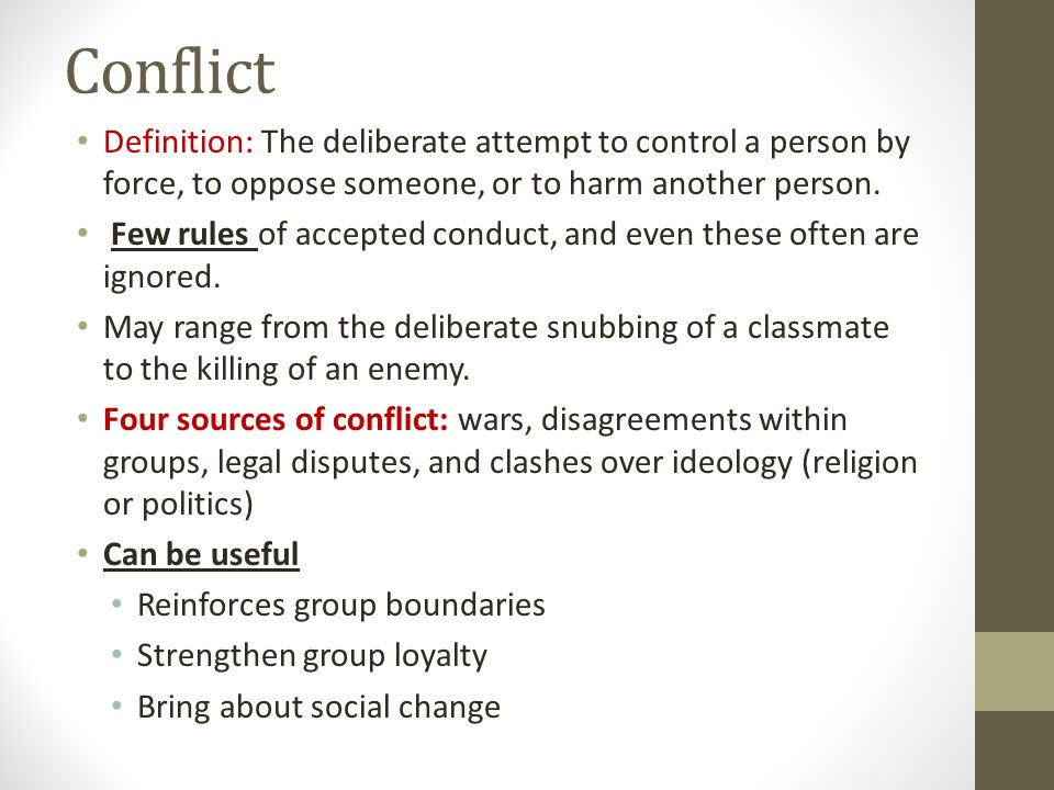 Definition of 'conflict'