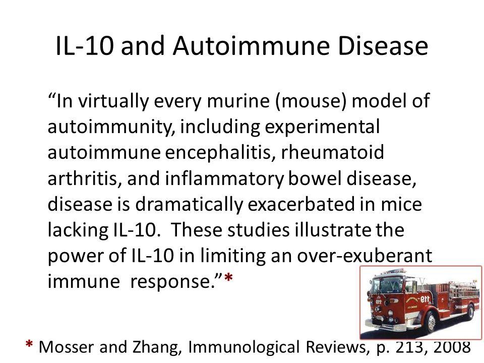 IL-10 and Autoimmune Disease