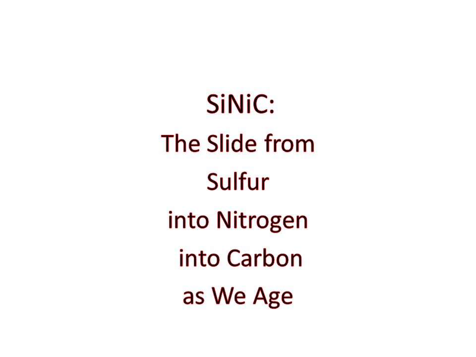 SiNiC: The Slide from Sulfur into Nitrogen into Carbon as We Age
